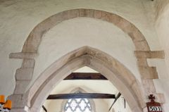Waterperry, St Mary's Church, Saxon chancel arch (above)