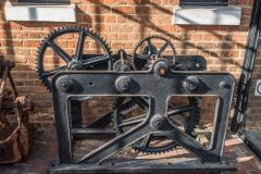 Geared mechanism outside the museum entrance