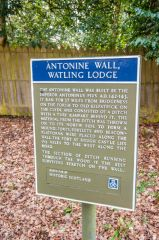 Watling Lodge (Antonine Wall), Historic Scotland information panel