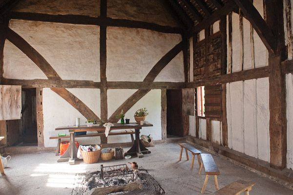 Weald and Downland Open Air Museum photo, Interior of medieval hall house