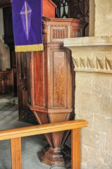 17th century 'wineglass' pulpit