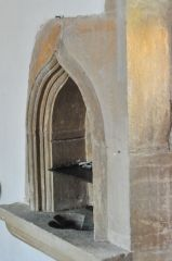13th century piscina in the chancel