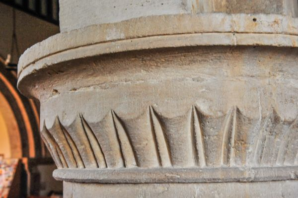 Welford on Avon, St Peter's Church photo, 12th century nave capital