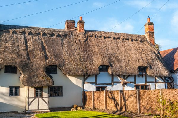 Welford on Avon photo, Thatched cottages, Chapel Street