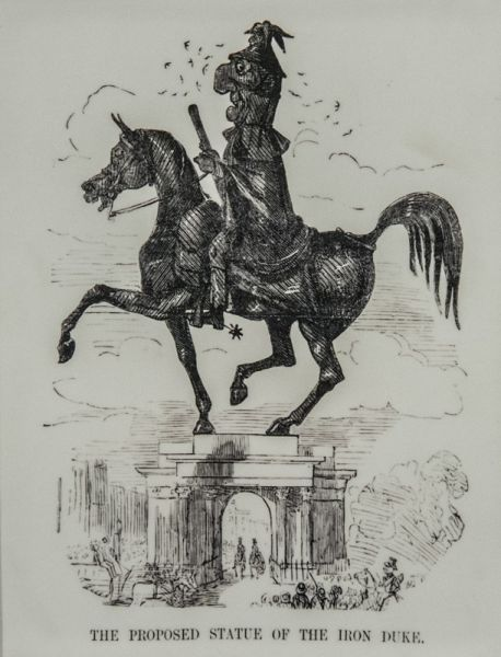 Wellington Arch photo, A cartoon lampooning the original Wellington statue