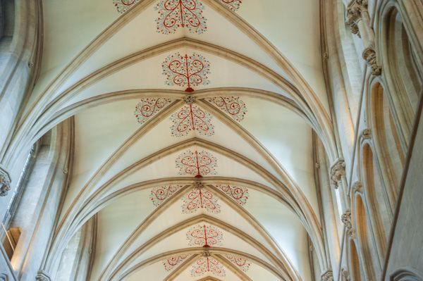 Wells Cathedral photo, The nave vaulting