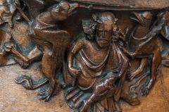 Wells Cathedral, Medieval misericord