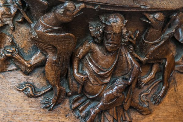 Wells Cathedral photo, Medieval misericord