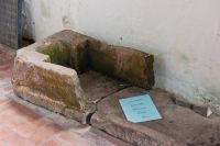 Welwick, St Mary's Church, 13th century stone coffin