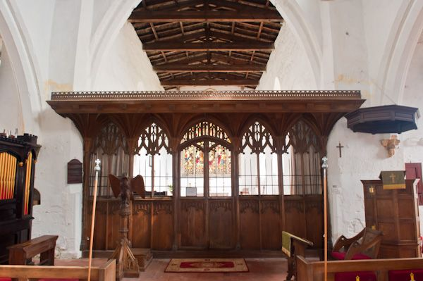 Welwick, St Mary's Church photo, 15th century rood screen