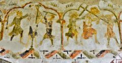 West Chiltington, 14th century wall painting (c) Michael Garlick