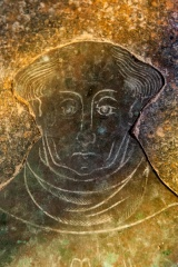 15th century Thomas Mareys memorial brass