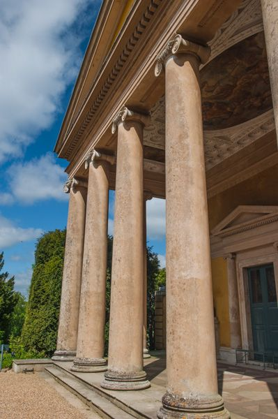 West Wycombe Park photo, The west portico