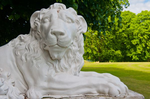 West Wycombe Park photo, Lion statue in the gardens