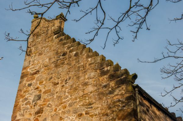 Westquarter Dovecot photo, The crow-step gable