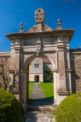 The courtyard entrance gate