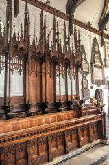 Whalley, St Mary's Church, 15th century choir stalls
