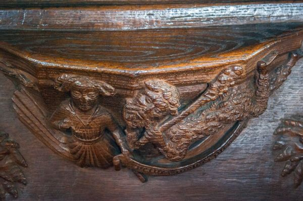 Whalley, St Mary's Church photo, Misericord in the choir