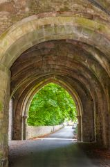 Whalley Abbey Gatehouse, Looking through the gatehouse passage