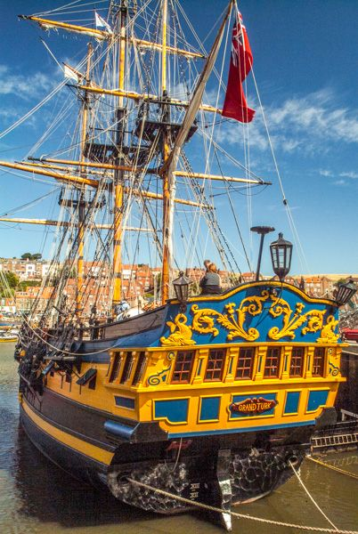 Whitby photo, Tall ships in the harbour
