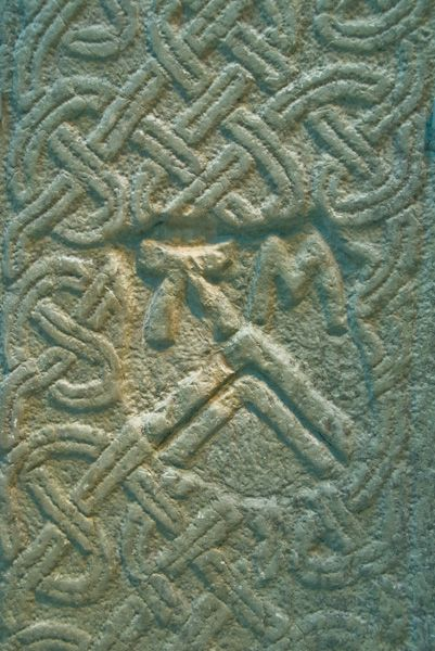 Whithorn Museum photo, Interlaced carving