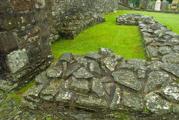 Whithorn Priory photo, Foundation walls