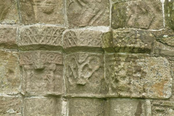 Whithorn Priory photo, Column capitals