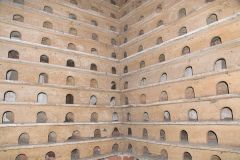 Wichenford Dovecote, Nesting boxes in the interior