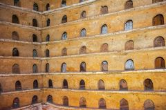 Wichenford Dovecote, Ground floor nesting boxes