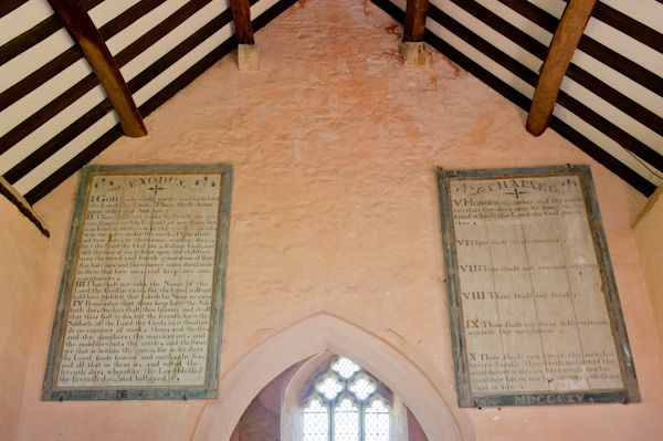 Widford, St Oswald's Church photo, West wall of nave