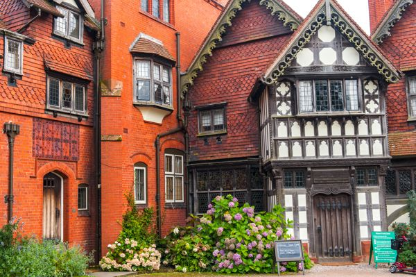 Wightwick Manor photo, The main house entrance