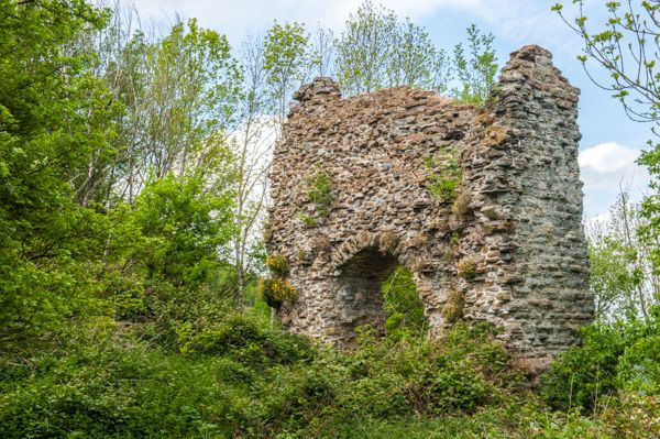 Wigmore Castle photo, Ruins of the castle keep