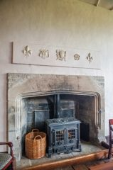 Wilderhope Manor, The sitting room fireplace