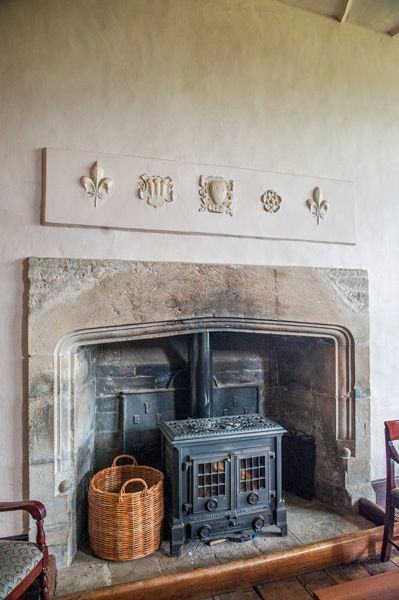 Wilderhope Manor photo, The sitting room fireplace