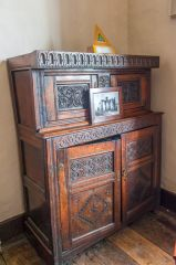 Wilderhope Manor, A Jacobean cabinet in the sitting room