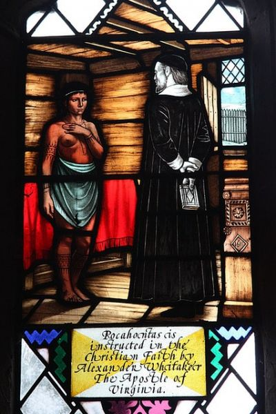 Willoughby photo, Pocahontas window detail (c) Richard Croft