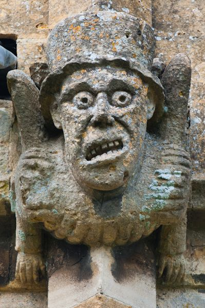Winchcombe, St Peter's Church photo, Mad Hatter grotesque