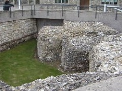 Winchester Castle foundations
