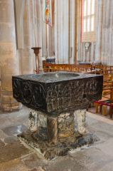 The 12th century Tournai marble font
