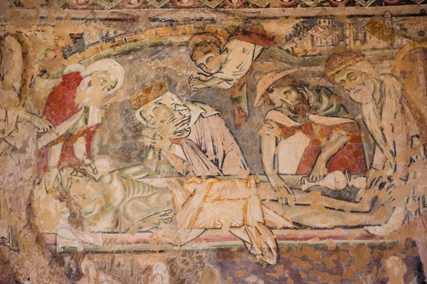 Winchester Cathedral photo, Medieval wall paintings