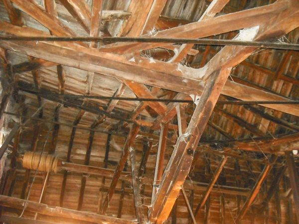 Winchester City Mill photo, Mill timber roof