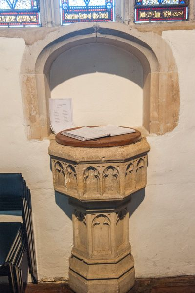 St Swithun-upon-Kingsgate Church photo, The medieval font
