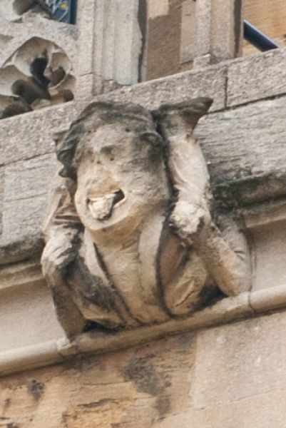 St George's Chapel photo, Grotesque carving, south wall
