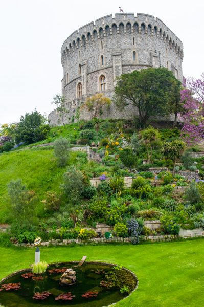 Windsor Castle photo, Round Tower and moat garden