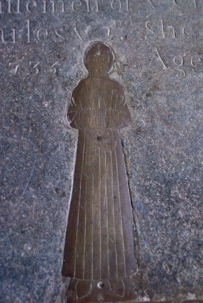 Wing, All Saints photo, Medieval brass - man