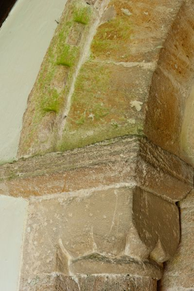 Winson, St Michael's Church photo, Norman capital, south doorway