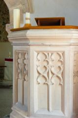 Winson, St Michael's Church, Medieval stone pulpit