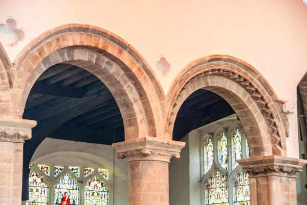 Wisbech Church photo, Romanesque nave arcades