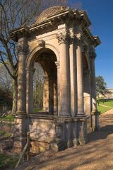 Stone temple in Witley Court gardens