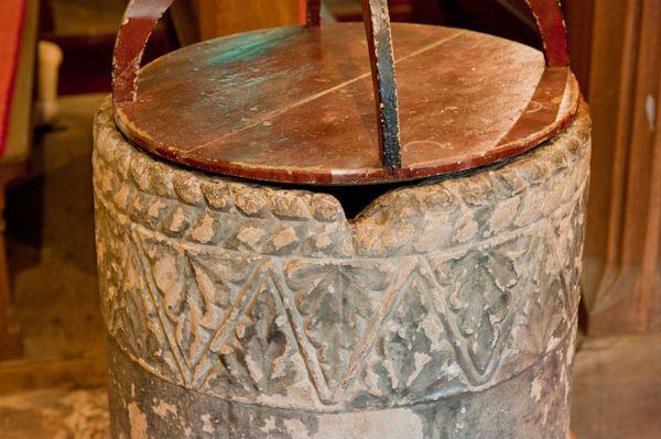 Wold Newton, All Saints Church photo, Norman tub font